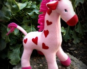 Valentine's - Plush Pink and Red Giraffe - FREE SHIPPING