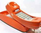 Vintage Retro Orange  Bell Western Electric Rotary Wall Telephone - FishboneDeco