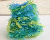 Elegant ocean shore specialty yarn fiber embellishment bundle