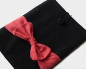 iPad case, iPad sleeve, iPad cover, Kindle, Tablet sleeve Black  Coral Red Bow