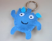 Aquarius Felt Keyring Bag Charm Kawaii Zodiac Star Sign