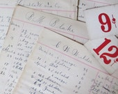 Antique Grocery Store Ledger Sheets - Receiving Book - 1892 - Great size to add to journal pages - GathererGreatThings