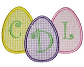 Easter Egg Trio Machine Embroidery Applique Design 4x4, 5x7 and 6x10