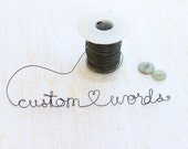 Custom Wire Words, Personalized Wire Words, Rustic Wire Words, Scrapbooking Wire words - kraze4paper
