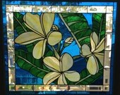 Stained Glass Hawaiian Plumeria - Original Design