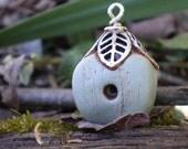 Gilded Birdhouse polymer clay charm