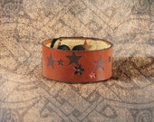 Leather Cuff - The Dusk Lit Stars Cuff