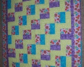 Think Spring Colorful Zigzag Quilt Bed/Lap/Wall