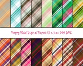 Preppy Plaid Digital Collage Sheets 8.5 x 11 Digital Papers Printable