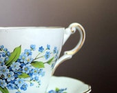 Forget- me- Not Bone china tea cup - Pjjlacasse