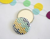 Geometric Pocket Mirror