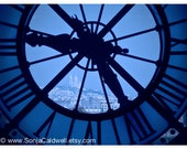 "Time to go back to Paris - Clock at Musée d'Orsay with view of Sacré-Coeur 9"" x 12"" Original Signed Fine Art Photograph"