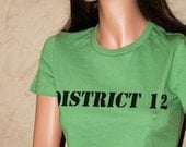 DISTRICT 12 Green Fitted Shirt Size LARGE