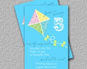 Kite Flying, Printable Birthday Invitation