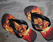 Hunger Games inspired flip flops - Size adult small