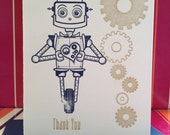 Robot Than You note card