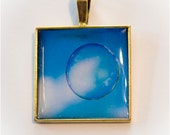 Floating bubble in blue sky Photo Pendant - READY TO SHIP - Fine Art Photography