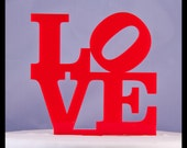 LOVE with tilted O Acrylic Wedding Cake Topper - oklahomastencil