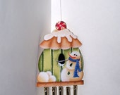 Gingerbread House Wind Chime Ornament-OFG