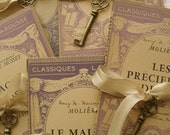 1900s Gorgeous Small Antique Paris French Book - reginasstudio