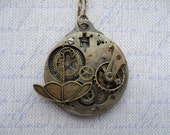 Steampunk Victorian April Showers Umbrella Pendant - SteampunkBijoux