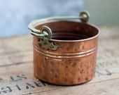 Vintage Hammered Copper Turkish Planter - blackoakvintage