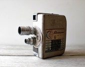 Vintage / Electronics / Camera / Revere 8 mm movie camera / industrial retro / masculine home decor / collectable / camera geek / gray metal - WhiteDogVintage