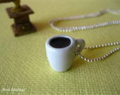 coffee cup necklace - coffee break necklace