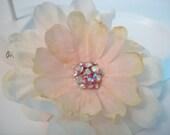 Blush Pink Hair Clip, Sparkly Hair Clip, Bridal - MirroredSkyCreations