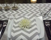Chevron Grey Table Runner - chiquiita