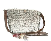 Off-White Crocheted Handbag in Popcorn Stitch - MadeforMebyOaklie
