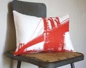 Brooklyn Bridge - Urban Throw Style no12 - RED - NestaHome