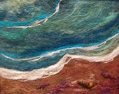 No.399 Sea Shore - Needlefelt Art Large - Deebs