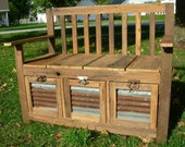 YOUR Made to Order Reclaimed and Recycled Barn Wood Storage Bench