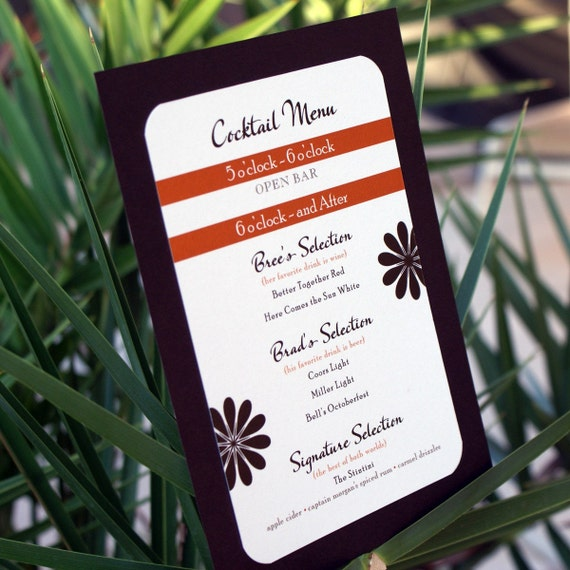 Bree Cocktail Menu - Customized Set of 2