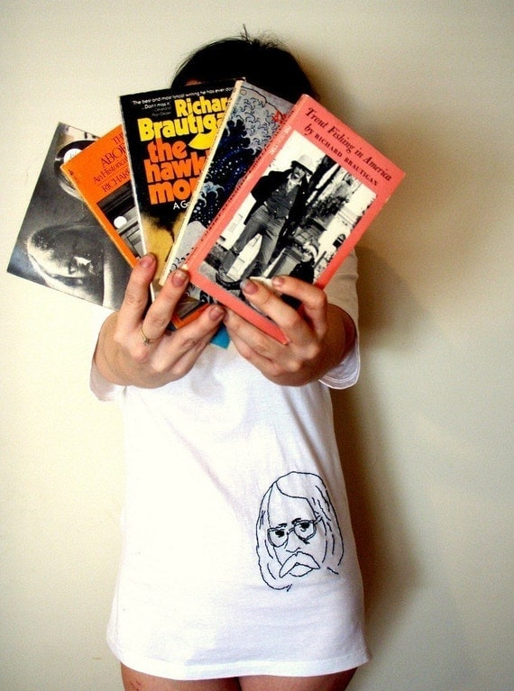 Richard Brautigan On A T-Shirt