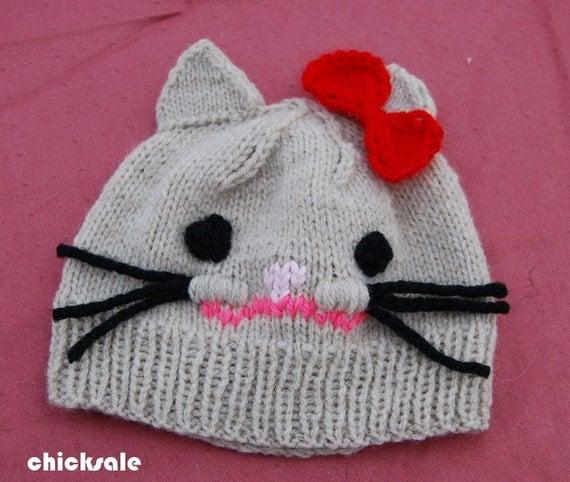 هالووین نوزاد نوزاد گربه کلاه. ساخته شده با مخلوط پشم آماده از کلرادو کشتی. سرپا نگه داشتن عکس مانی