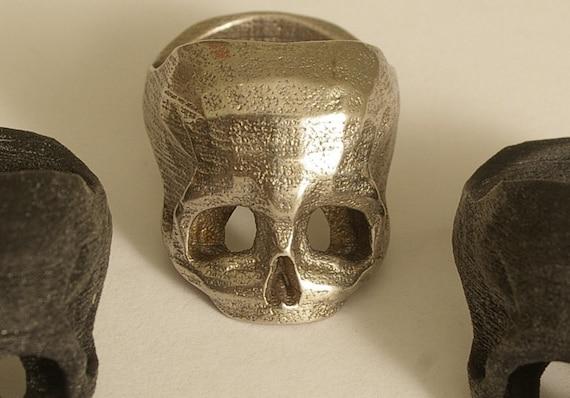 Bespoke 3D printed Skull Ring in Stainless Steel