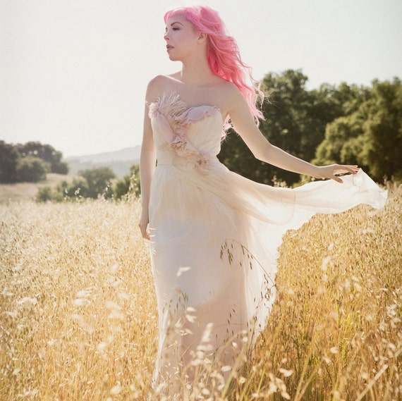 Bohemian Blush Wedding Gown- It Must Have Been the Roses