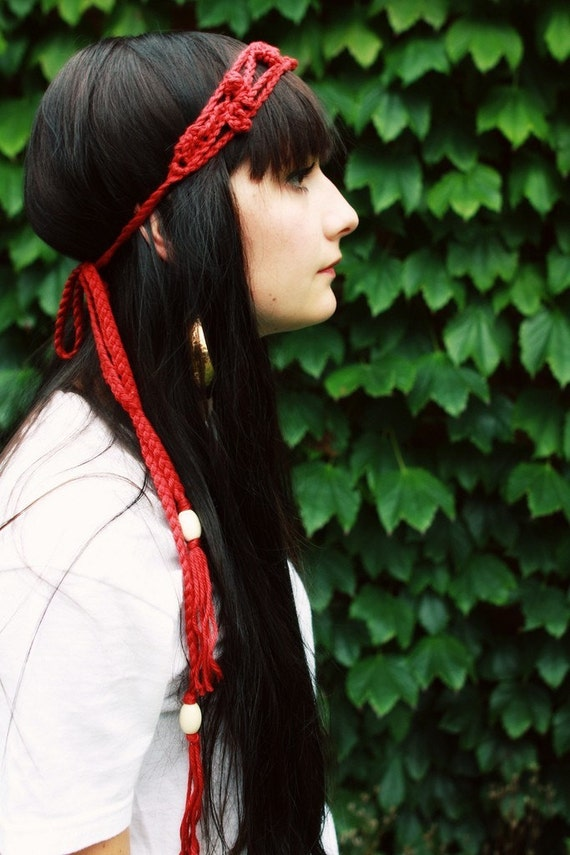 Haight Street Headband in Crimson - VEGAN