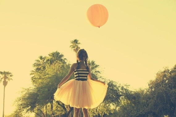Sweetheart Party Dress with Hand Dyed Tulle Skirt - Clouds of Cotton Candy