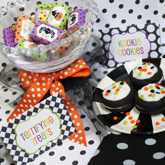 Huge Halloween Complete Printable Party Package - 60 Percent Off - by Shindig Parties To Go