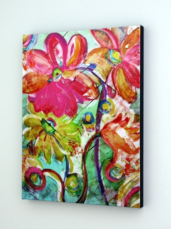 Abstract Giclee on Gallery wrapped Canvas