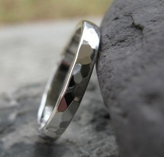 Faceted Thumb Ring . sterling silver . disco ball shiny finish . READY TO SHIP in size 7 3/4