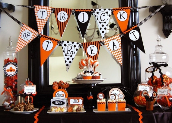 Halloween Pumpkin Birthday Printable Party - DIY