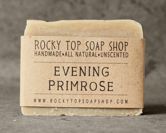 Evening Primrose Soap with Rhassoul Clay - All Natural Soap, Cold Process Soap, Unscented Soap, Facial Soap, Handmade Soap