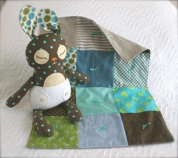 Baby Binky Bunny PDF printable pattern