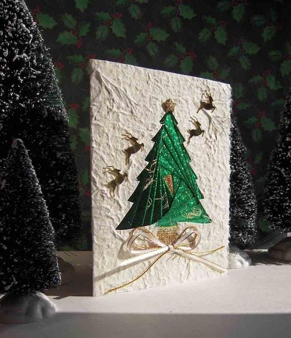Christmas Tree Card - Iris Folding of Glistening Foils