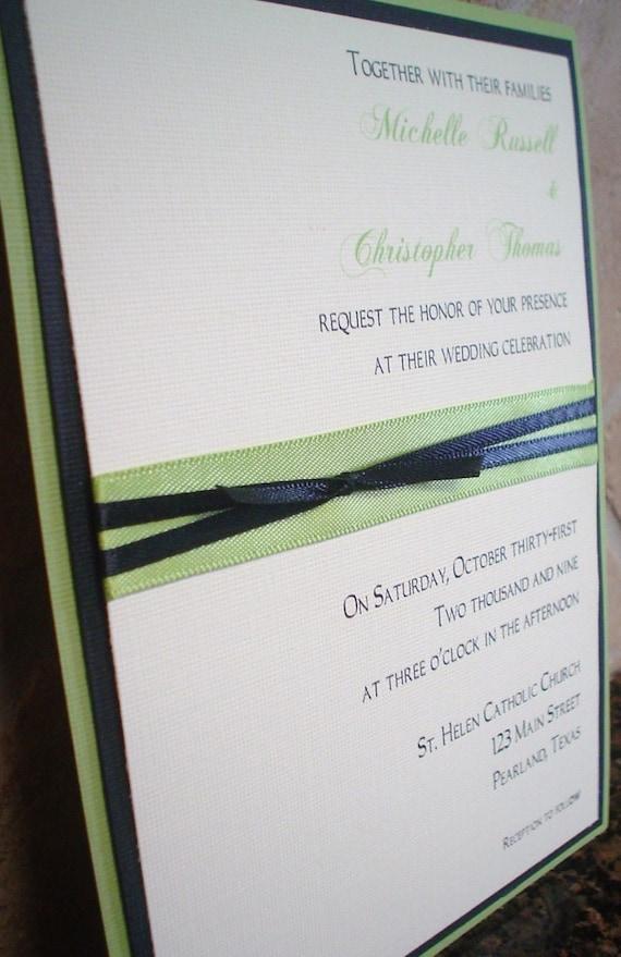 Michelle - Layered Wedding Invitation