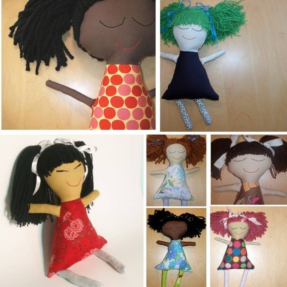 Custom handmade Ethnic Rag Dolls